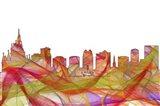 Orlando Florida Skyline - Summer Swirl