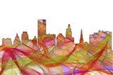 Providence Rhode Island Skyline - Summer Swirl
