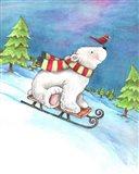 Polar Bear and Sled