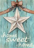 White Barn Star with Bow Home White