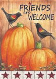 Pumpkin Blackbird Friends Welcome