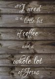 Coffee - Tall Woodsign