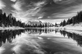 Alpine Reflection BW