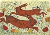 Hares & Crow