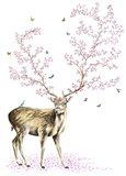 Cherry Blossom Deer
