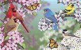Birds In Spring Blossom