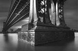 Manhatan Bridge Column Bw Flat
