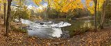 Bond Falls In Autumn Panorama #2, Bruce Crossing, Michigan 12
