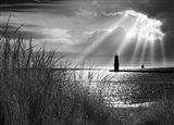 Frankfort Lighthouse and Sunbeams, Frankfort, Michigan '13-IR