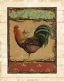 Rooster Portraits IV with Border