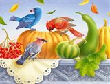 Birds And Pumpkins
