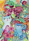 3 Cats + 3 Birds