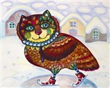 Winter Owl Cat