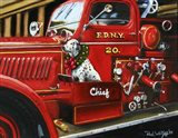 Dalmation Christmas Firetruck