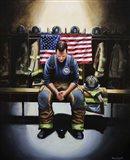 Praying Firefighter
