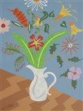 Les Fleures du Printemps - White Vase