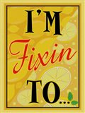 I'm Fixin To...