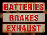 Batteries Brakes Exhaust