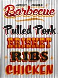 Barbeque Hickory Smoked Corregate Metal