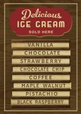 Ice Cream Board -Wood