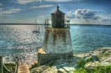 RI Lighthouse And Sloop