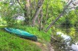 Streamside Green Canoe