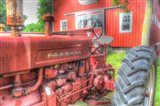 Tractor and Barn