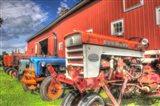 Tractors and Barn