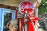 Old Gas Pump and Teddy