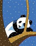 Giant Panda Sleeping In Treee