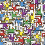 Social Network Circuit Board Pattern