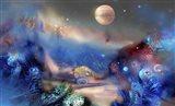 Alien World Orange Moon