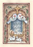 Peace on Earth Doves and Nativity