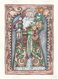 Santa Holding Toys And Lamp