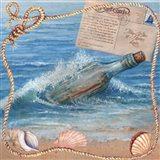 Message In Bottle-Beach Postcard