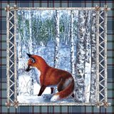 Birch Frame Plaid Fox