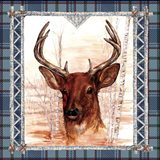 Birch Frame Plaid- Deer