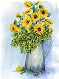 Sunflowers Watercolor Sketch
