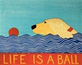 Life Is A Ball Gold Golden