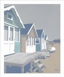 Mudeford Huts Blue