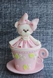 Teddy In Cup Pink