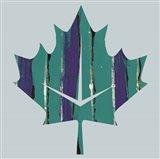 Teal Maple Leaf
