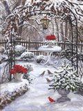 Patio Snow Scene