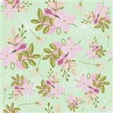Pink Mint Floral Pattern
