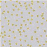 Grey Linen Golden Round Confetti