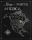 Chalk Map Of North America