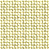 Gold Houndstooth On White
