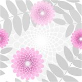 Flowers And Leaves Pattern Pink