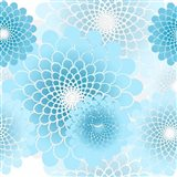 Spiral Flowers Pattern Baby Blue