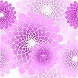 Spiral Flowers Pattern Pink